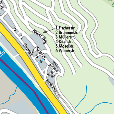 Mosel Karte Mit Allen Orten.Karte Von Graach An Der Mosel Stadtplandienst Deutschland