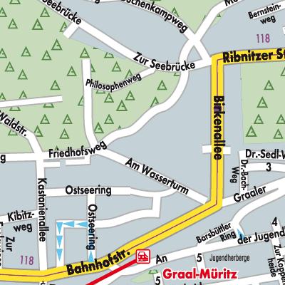 graal müritz karte Karte von Graal Müritz   Stadtplandienst Deutschland