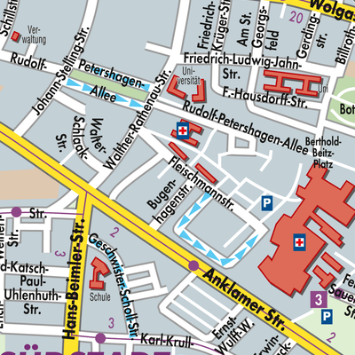 Greifswald Karte.Karte Von Greifswald Stadtplandienst Deutschland