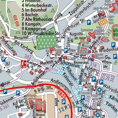 Karte Von Gummersbach Stadtplandienst Deutschland