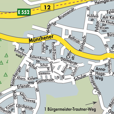 Karte Oberbayern.Karte Von Haag In Oberbayern Stadtplandienst Deutschland