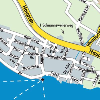 Karte Von Hagnau Am Bodensee Stadtplandienst Deutschland