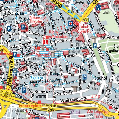Halle Saale Karte.Karte Von Halle Saale Stadtplandienst Deutschland