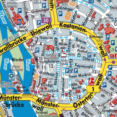 Hameln Karte.Karte Von Hameln Stadtplandienst Deutschland