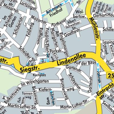 Hamm Karte.Karte Von Hamm Sieg Stadtplandienst Deutschland