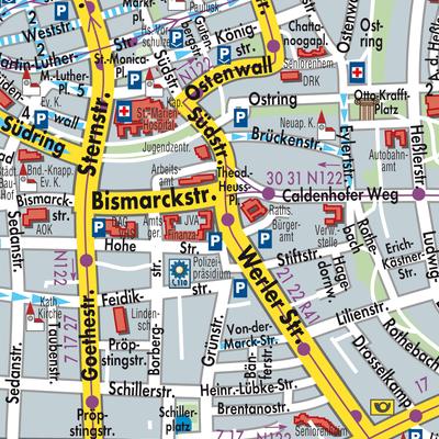 Hamm Karte.Karte Von Hamm Stadtplandienst Deutschland