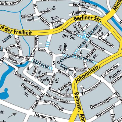 herford karte deutschland Karte von Herford   Stadtplandienst Deutschland