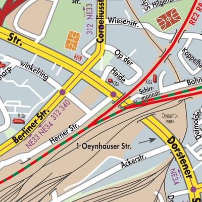 Herne Karte.Karte Von Herne Stadtplandienst Deutschland