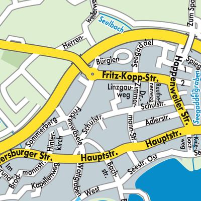 immenstaad bodensee karte Karte von Immenstaad am Bodensee   Stadtplandienst Deutschland