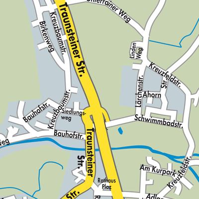 Inzell Karte.Karte Von Inzell Stadtplandienst Deutschland