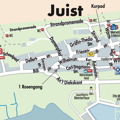 Juist Karte.Karte Von Juist Stadtplandienst Deutschland