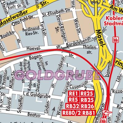 Karte Koblenz.Karte Von Koblenz Stadtplandienst Deutschland