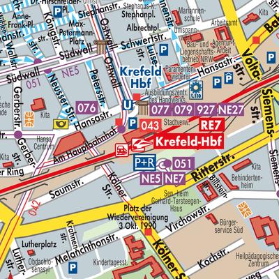 Krefeld Karte.Karte Von Krefeld Stadtplandienst Deutschland