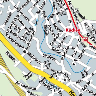 Karte Von Kuchen Stadtplandienst Deutschland