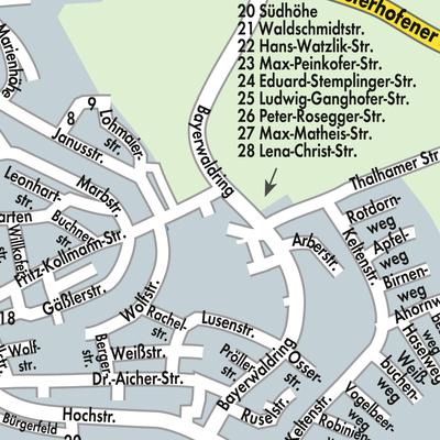 Stadtplan Landau a.d.Isar