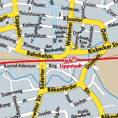 lippstadt karte deutschland Karte von Lippstadt   Stadtplandienst Deutschland