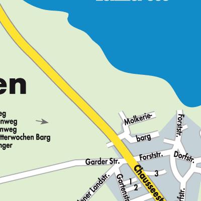 Güstrow Karte.Karte Von Lohmen Stadtplandienst Deutschland