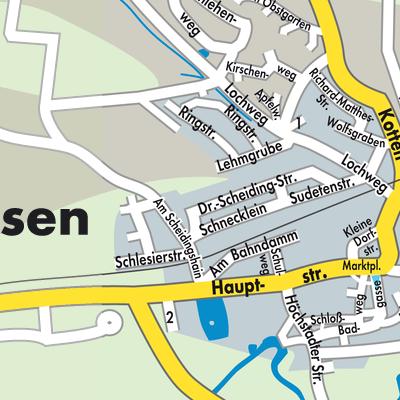Erlangen Karte Deutschland.Karte Von Muhlhausen Stadtplandienst Deutschland