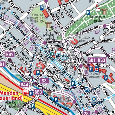 Sauerland Karte.Karte Von Menden Sauerland Stadtplandienst Deutschland