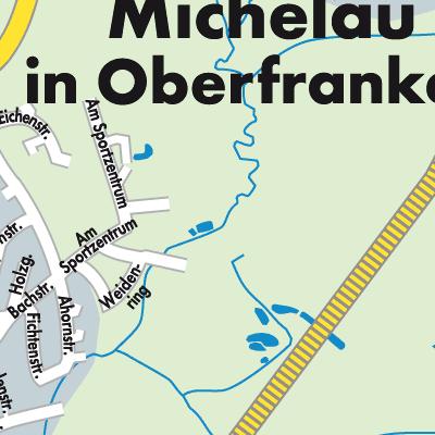 Oberfranken Karte.Karte Von Michelau In Oberfranken Stadtplandienst Deutschland