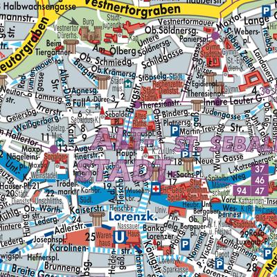 Nürnberg Karte Deutschland.Karte Von Nürnberg Stadtplandienst Deutschland