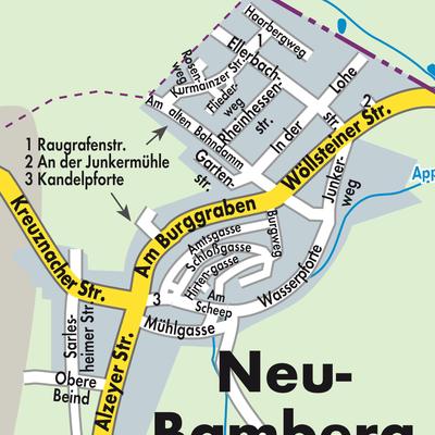 Karte Bamberg.Karte Von Neu Bamberg Stadtplandienst Deutschland