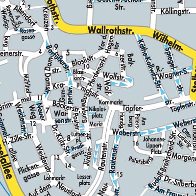 Nordhausen Karte.Karte Von Nordhausen Stadtplandienst Deutschland