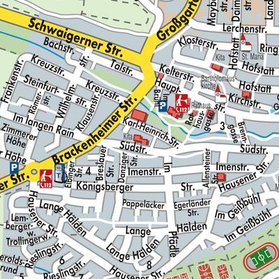 Heilbronn Karte Stadtplan.Karte Von Nordheim Stadtplandienst Deutschland