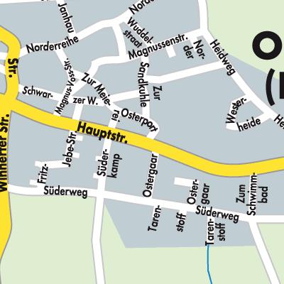 Husum Karte.Karte Von Ostenfeld Husum Stadtplandienst Deutschland