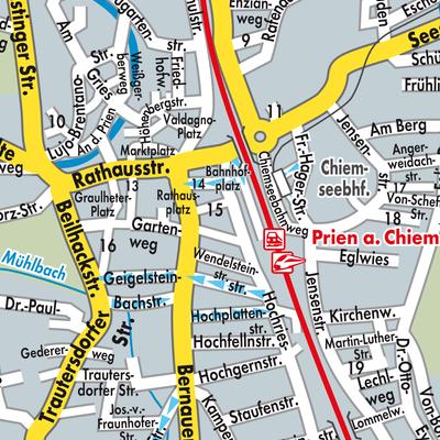 Chiemsee Karte.Karte Von Prien Am Chiemsee Stadtplandienst Deutschland