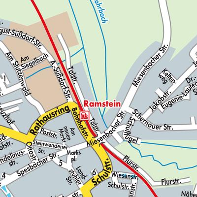 Karte von Ramstein-Miesenbach - Stadtplandienst Deutschland