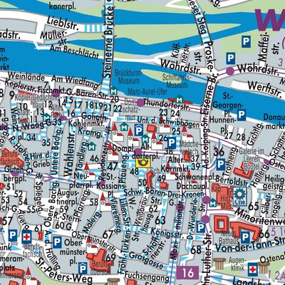 Karte Regensburg Altstadt.Karte Von Regensburg Stadtplandienst Deutschland