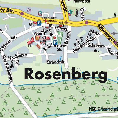 Ostalbkreis Karte.Karte Von Rosenberg Stadtplandienst Deutschland