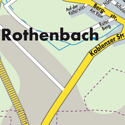 Karte Von Rothenbach Stadtplandienst Deutschland