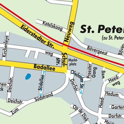 Sankt Peter Ording Karte.Karte Von St Peter Ording Stadtplandienst Deutschland