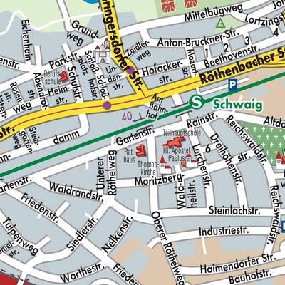 Nürnberg Karte Deutschland.Karte Von Schwaig Bei Nürnberg Stadtplandienst Deutschland