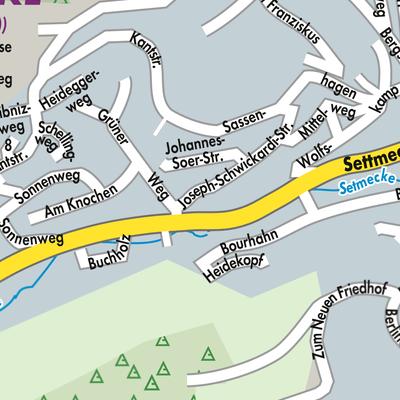 Sauerland Karte Deutschland.Karte Von Sundern Sauerland Stadtplandienst Deutschland