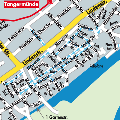 Karte von Tangermünde - Stadtplandienst Deutschland