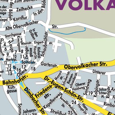 Karte Von Volkach Stadtplandienst Deutschland