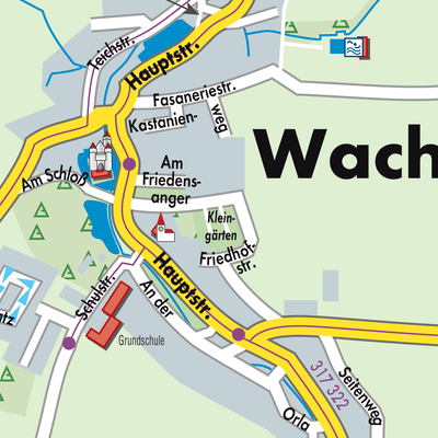 Wachau Karte.Karte Von Wachau Stadtplandienst Deutschland