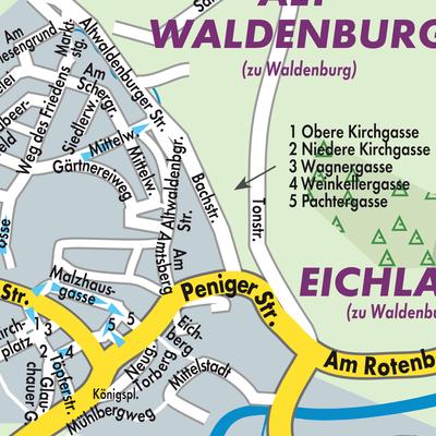 Zwickau Karte.Karte Von Waldenburg Stadtplandienst Deutschland
