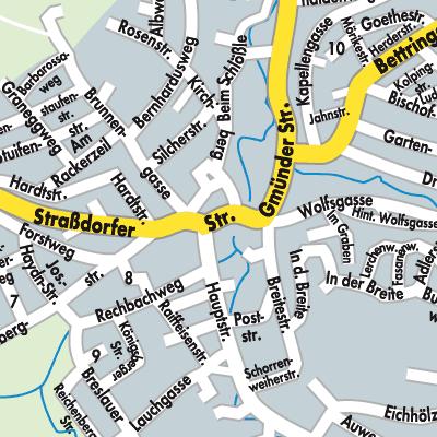 Ostalbkreis Karte.Karte Von Waldstetten Stadtplandienst Deutschland