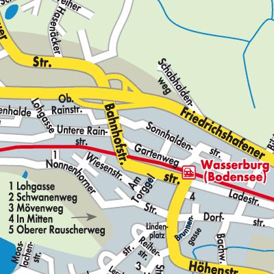 Karte Von Wasserburg Bodensee Stadtplandienst Deutschland