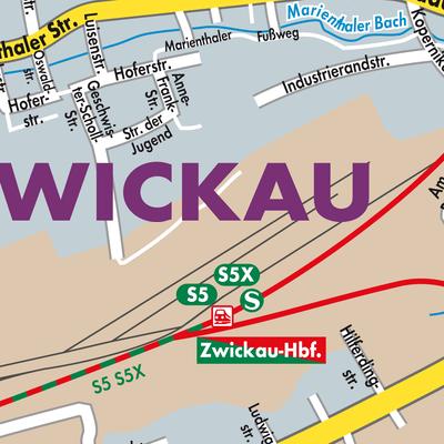Zwickau Karte.Karte Von Zwickau Stadtplandienst Deutschland
